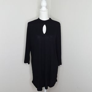 Torrid Black Neck Ribbed Tunic